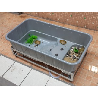 一体成型中号龟箱 种龟箱 养殖箱 保温箱 水龟箱宠物水族箱龟箱乌龟别墅