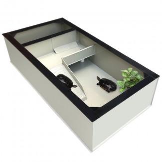 定制 乌龟缸种龟箱龟池特大号大带产蛋沙池家用巴西养龟箱PP塑料生态缸
