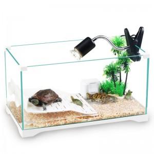 玻璃龟缸巴西龟缸玻璃透明龟缸生态龟缸金鱼缸生态龟缸造景带晒台