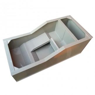 种龟箱 龟池塑料生态龟箱黄缘龟养殖蛋箱半水龟托陆龟乌龟草龟缸产蛋龟盆