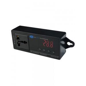 智能数显温度控制器 带插座带探头 可调启动温度停止温度 220v