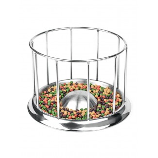 圆形304不锈钢陆龟食盆