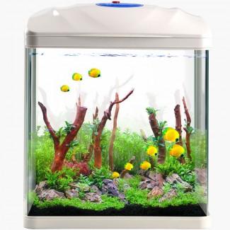 厂家直销 鱼缸水族箱乌龟缸金鱼缸创意小型鱼缸HR生态鱼缸