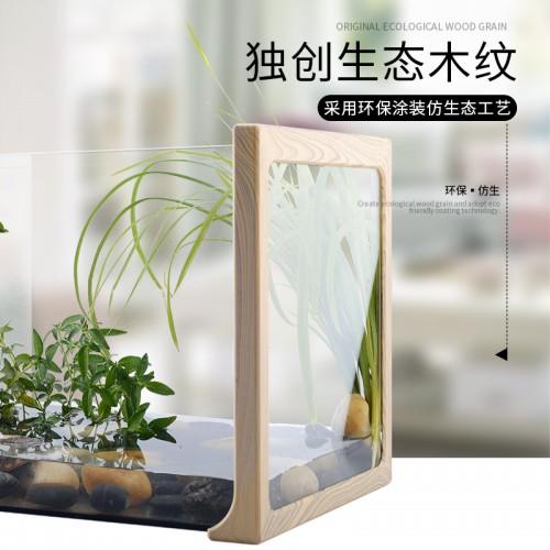 厂家直销木纹雨林缸造景水陆缸乌龟守宫角蛙蜘蛛雨林蝎饲养箱网箱