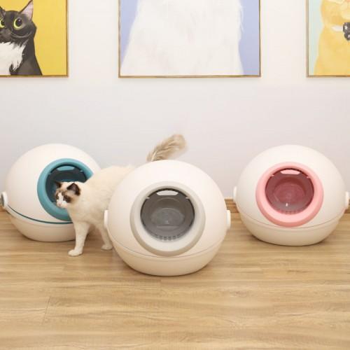 厂家直销价猫厕所 猫砂盆全封闭翻盖大号防外溅猫咪用送猫砂铲