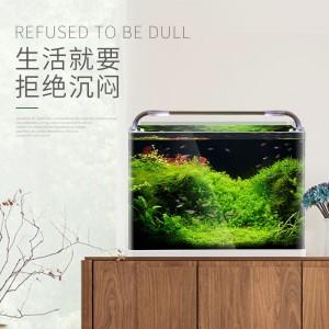 桌面热弯超白鱼缸 免换水生态小型水族箱 水草造景缸直销一键代发