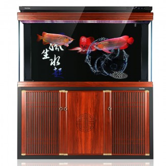 超白鱼缸客厅 风水招财水族箱大 大型落地 家用小型